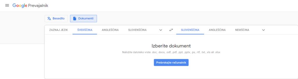 Google prevajalnik in nerazumevanje angleščine